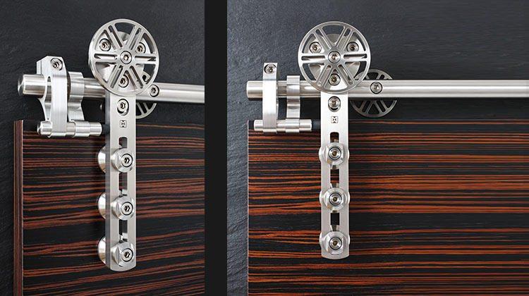 Stainless Steel Barn Door Hardware by MWE