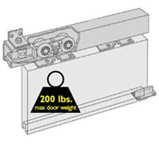 H200 Soffit Box Track Sliding Door Hardware Kit