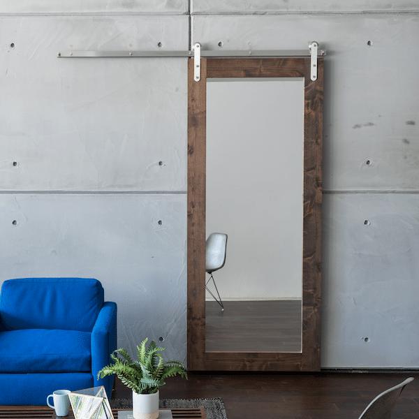 Modern Mirrored Barn Door Specialtydoors Com