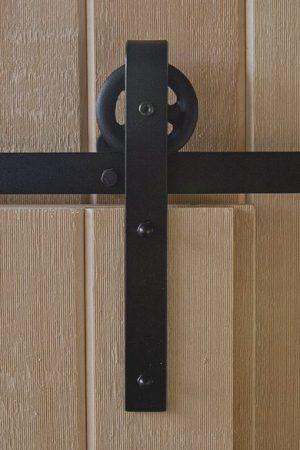 Small Strap Flat Track Barn Door Hardware Kit | Barndoorhardware.com