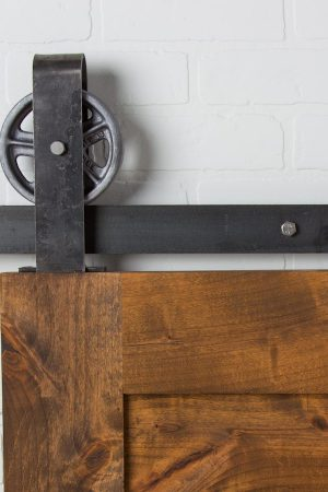Vintage Loop Top Mount Raw Steel | Barndoorhardware.com