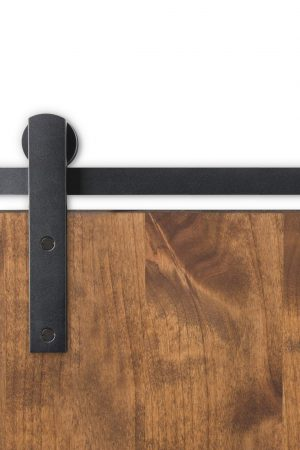 Huxley Heavy Duty Barn Door Hardware in Black