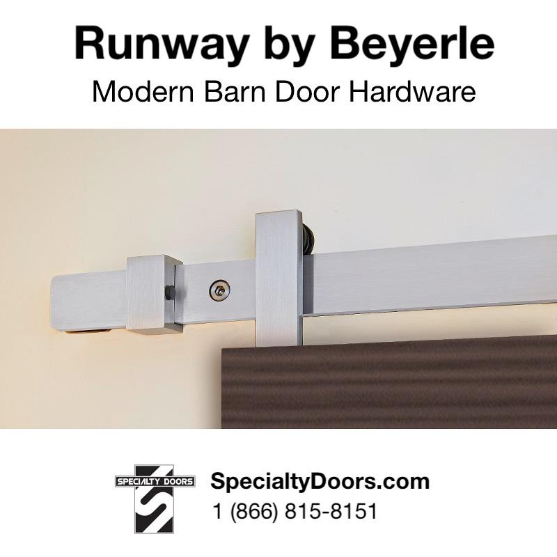 Runway by Beyerle - Modern Barn Door Hardware - SpecialtyDoors.com