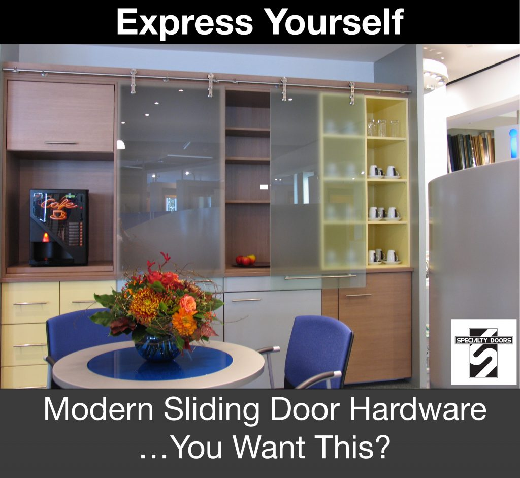 Express Yourself with MWE MiniMax Modern Sliding Door Hardware. You want this? You can have it at SpecialtyDoors.com
