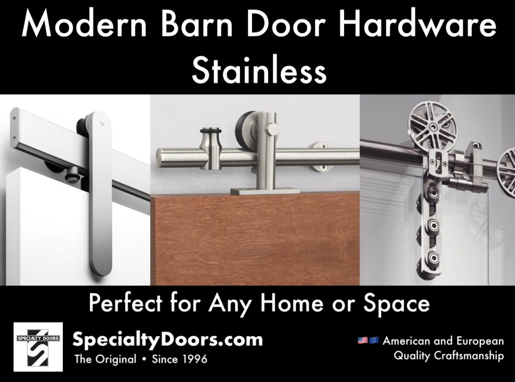 Modern Barn Door Hardware Stainless - Perfect for Any Home or Space - SpecialtyDoors.com